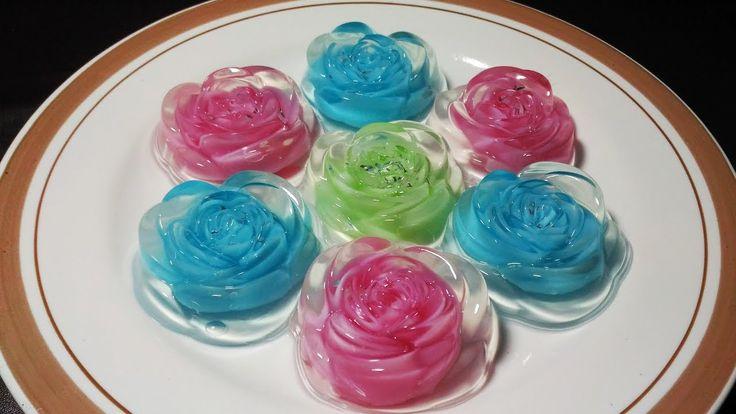 Resep Membuat Pudding Kaca Mawar Warna Warni