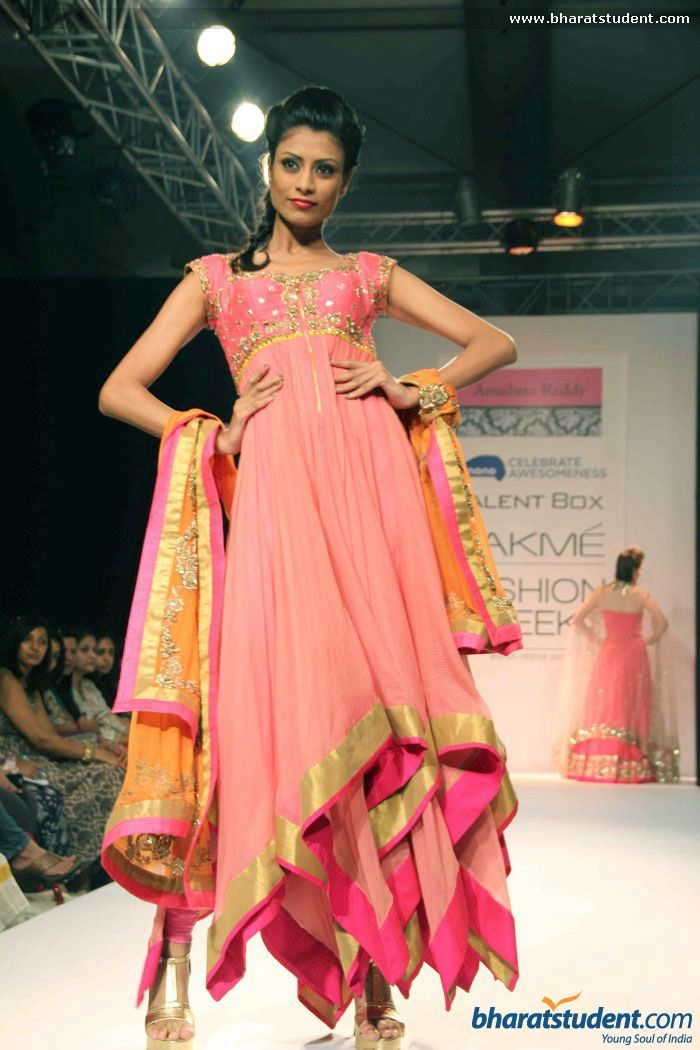 Anarkali by Anushree Reddy at Lakme Fashion Week Winter / Festive 2013