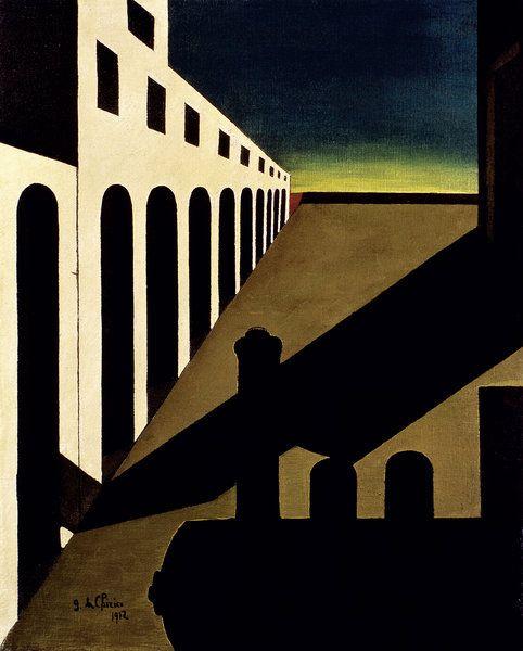 """Giorgio de Chirico, """"La matinna agonizzante"""", 1912                                                                                                                                                      More"""