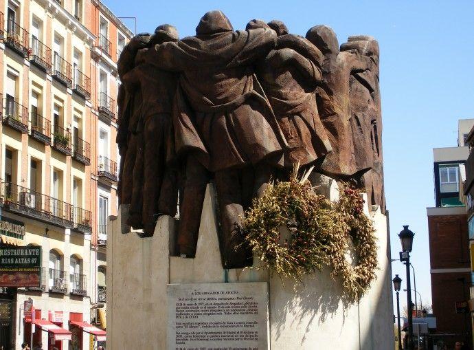 Monumento a los Abogados asesinados en la calle Atocha, Madrid España.