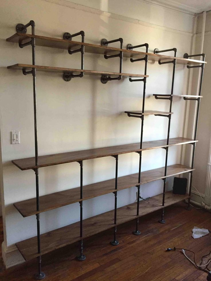 Plumbing Pipe Shelves