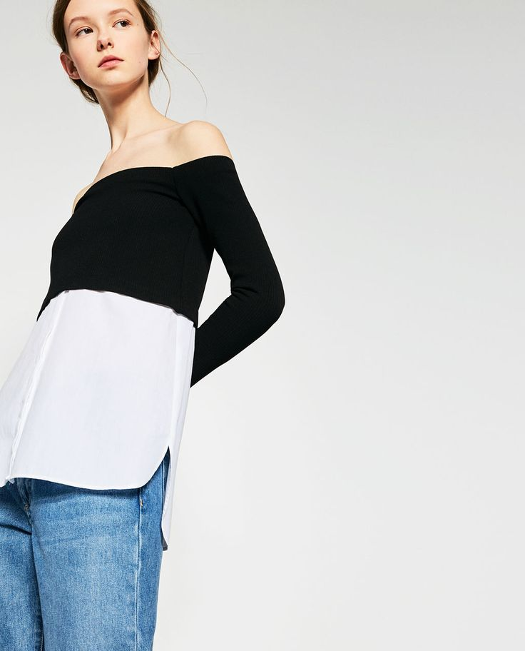 CONTRAST POPLIN TOP-SPECIAL PRICES-WOMAN | ZARA United Kingdom