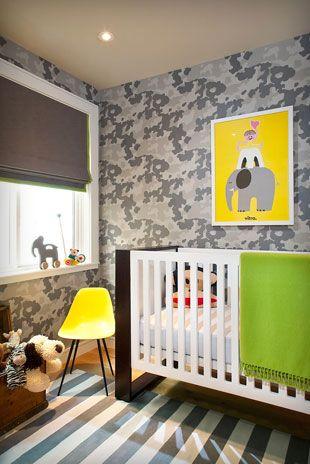 Little Porter's–Camouflage Wallpaper