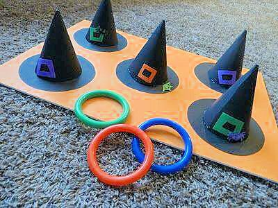 Witches Hat Ring toss game  or can add sight words to the hat buckle and toss