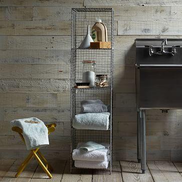 Wire Mesh Storage - Standing Shelving Rack #westelm