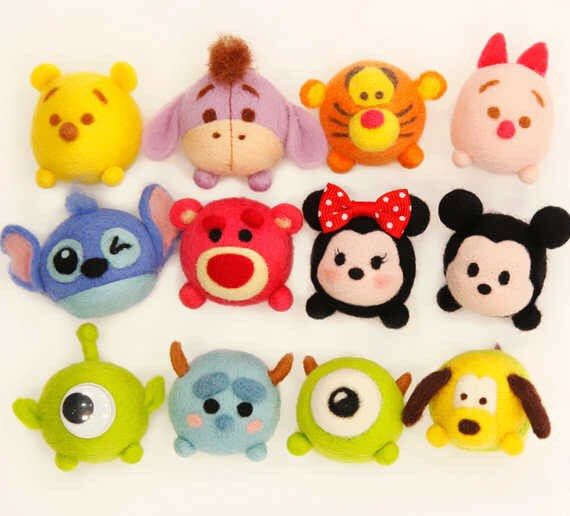 Cutie Disney Character Dust Plug Needle Felting by APHandcrafts