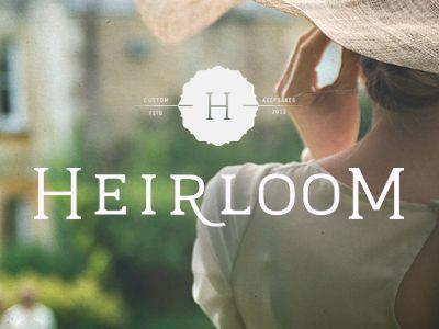    Heirloom :: by public school :: via dribbble