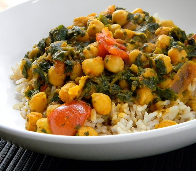 Eat Good 4 Life Easy Chick Pea and Spinach Indian Curry » Eat Good 4 Life