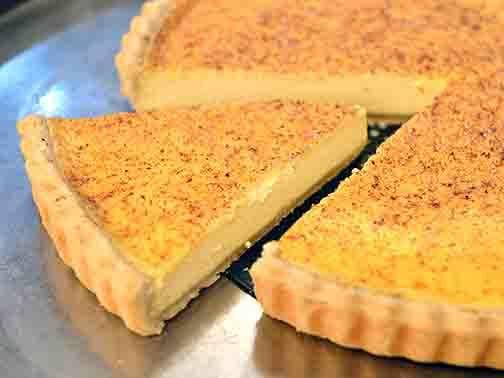 Baked Egg Custard Tart - Custard Tart Recipe