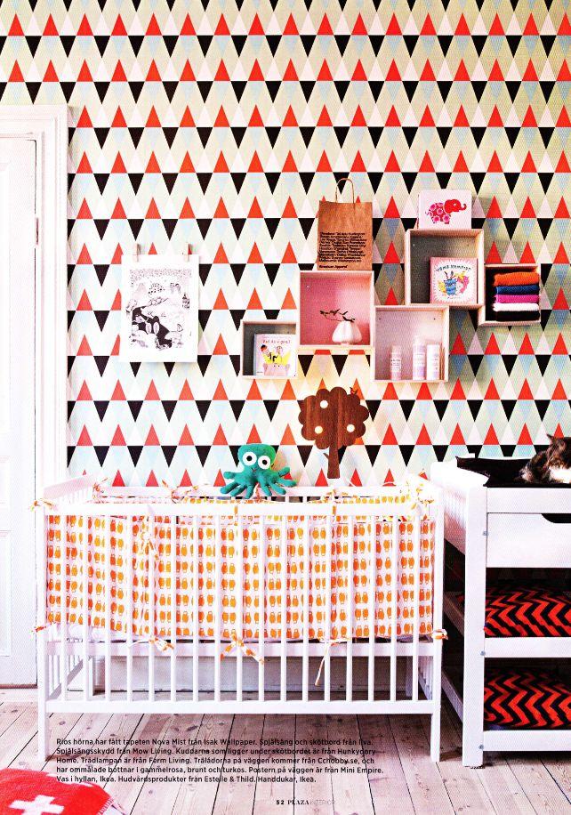 isak - beautiful happy things  - wallpaper #mod #midcentury #kids