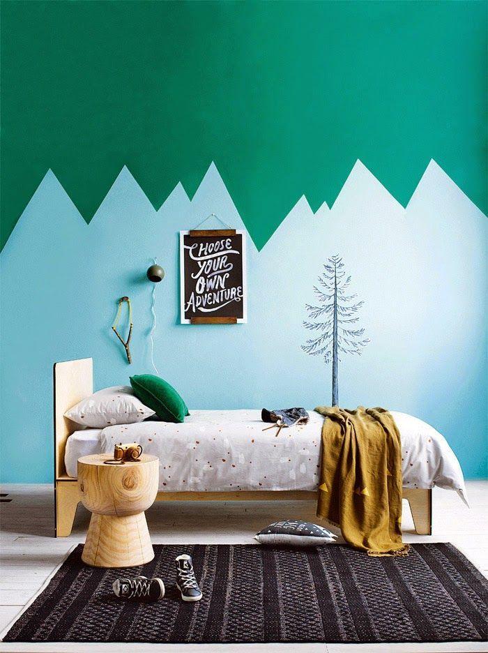 ideas originales para decorar las paredes del dormitorio infantil con pintura
