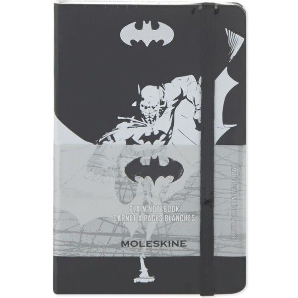 MOLESKINE Batman plain notebook found on Polyvore featuring home, home decor and stationery