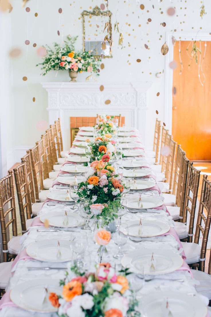 Unique Peach And Gold Wedding Decor Gallery - The Wedding Ideas ...