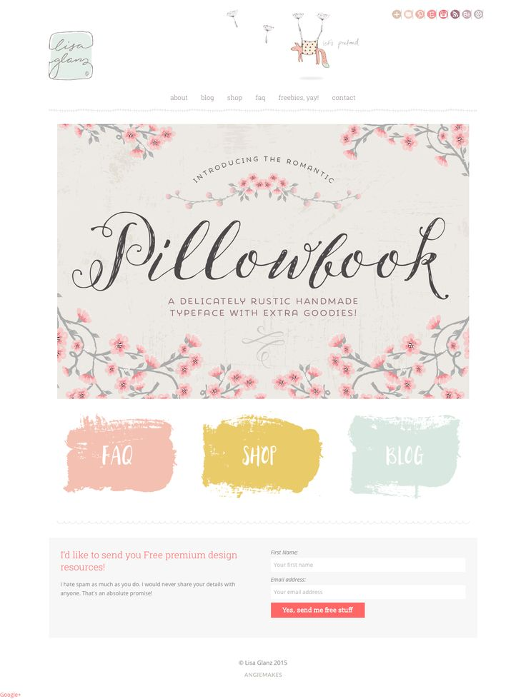 LOVE this adorable webdesign running off of an Angie Makes Wordpress theme. So cute!
