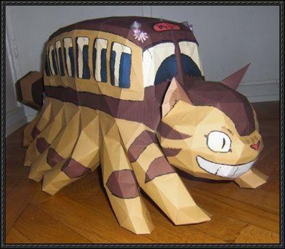 My Neighbor Totoro - Catbus Free Papercraft Download - http://www.papercraftsquare.com/neighbor-totoro-catbus-free-papercraft-download.html