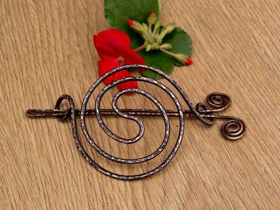 Antique copper Hair bun holder Hair bun by MusawwarCreations