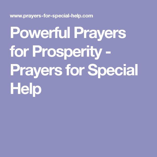 Powerful Prayers for Prosperity - Prayers for Special Help