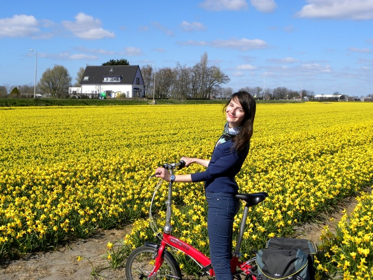 Cycling in Holland. More photos here: http://skirtbike.ro/blog/cu-bicicleta-pe-campurile-de-lalele-si-parada-anuala-a-florilor-in-olanda/
