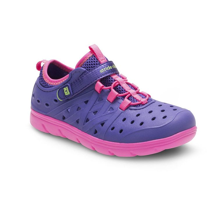 Stride Rite Made 2 Play Phibian Girls' Water Shoes, Size: 9 T, Purple
