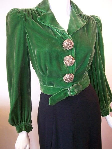 Navajo Style Velvet Jacket with concho buttons.