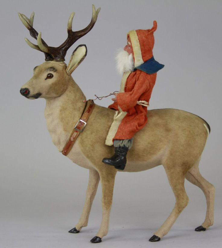 MAGNIFICENT LARGE SANTA & REINDEER CANDY CONTAINE