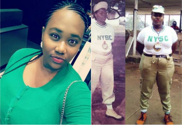 This Nigerian Girl Recreates Her Mothers NYSC Photo And Its Everything