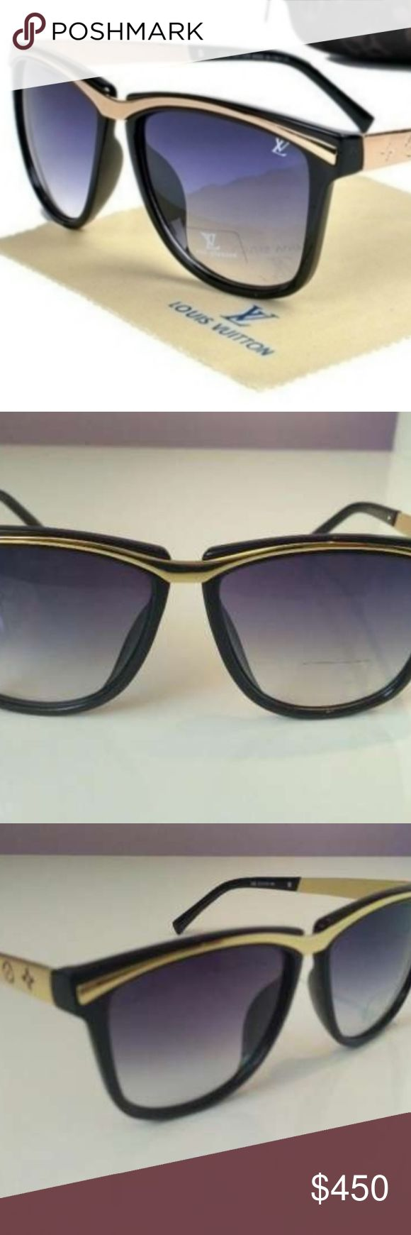 NEW Louis Vuitton 265 Millionaire Gold Sunglasses Louis Vuitton Model: LVmillionaire Gender: UNISEX Model Code: Louis Vuitton 265 Color - Black / Gold Color Lens Gray/Black UV protection 400  PRODUCT DIMENSIONS: Width 139 MM Bridge 15 MM Lens Height 46 MM Lens Width 55 MM Arm Length 135 mm  Serial #: 265 57-16-142 Louis Vuitton Accessories Sunglasses
