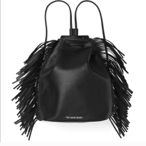 Limited Edition VS Fashion Show Fringe Backpack Brand new with tags, still in original plastic packaging!   Limited edition from the Victoria's Secret 2015 Fashion Show! Faux leather. Victoria's Secret Bags Backpacks