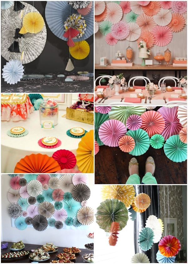 Decorar con abanicos de papel/Paper fan decor
