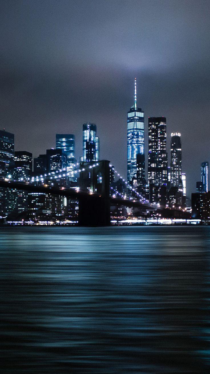 Brooklyn Bridge, night, cityscape wallpaper Cityscape