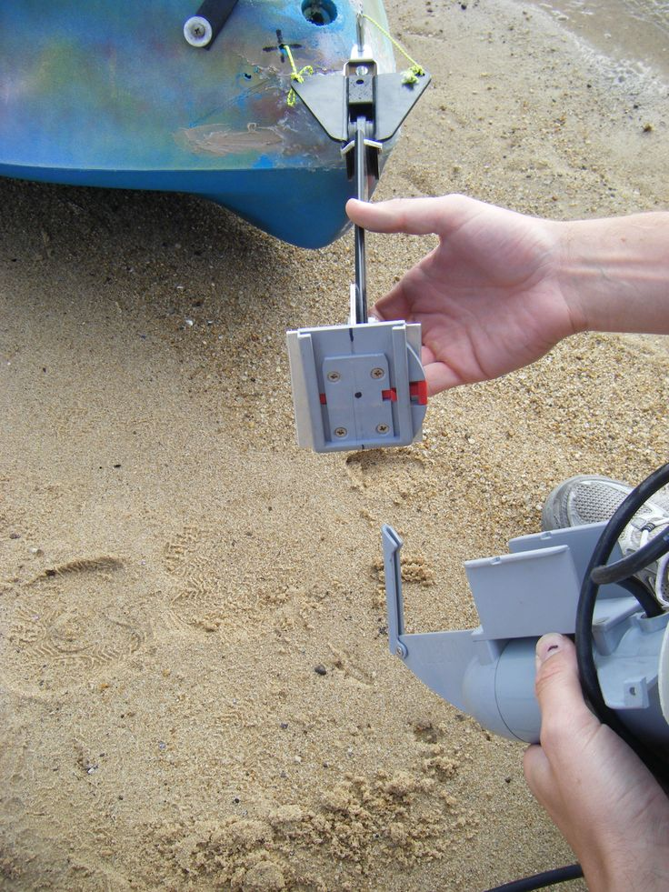 Showing Quick Release Bracket Female Mounted On Rudder