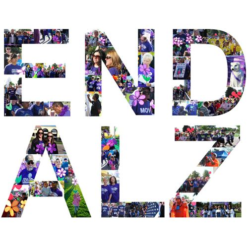 Check out our #EndAlz logo spelled with photos of #Colorado Walk to End Alzheimer's participants.