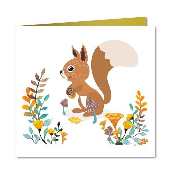 Geboortekaartje  Lief eekhoorntje (R-4999) Perfect voor jullie herfstbaby!