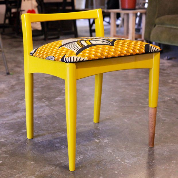 Passionate, is an appropriate term to describe London born, Nigerian furniture maker Yinka Ilori. A young talent, his vision is to create a bespoke yet sustainable design collection. By sourcing used, vintage or discarded furniture, or in his words 'pre-loved', he is changing the way we view design.