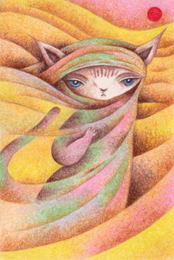 Fairy tale illustration - Gypsy cat