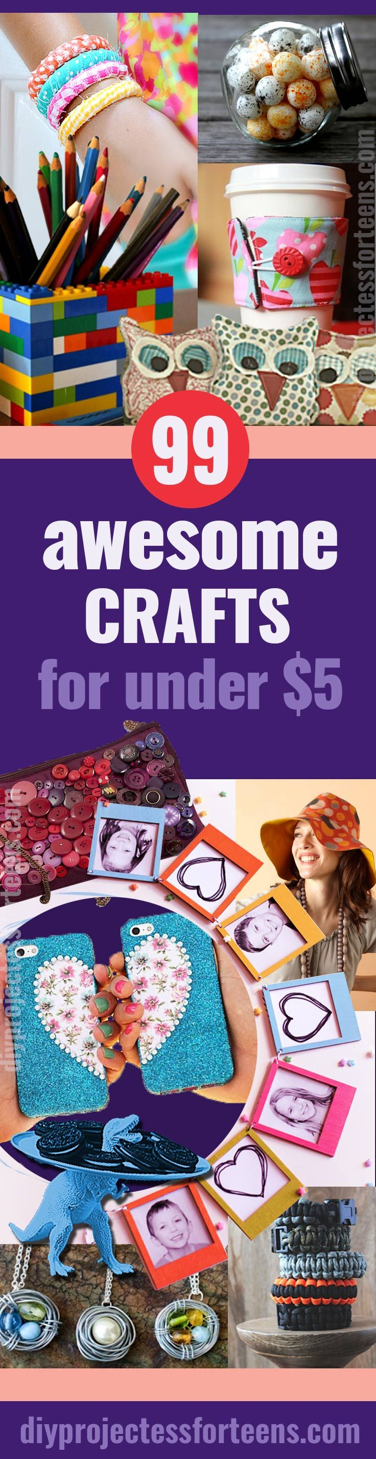 DIY Crafts You Can Make for Less Than $5. Cool and Cheap DIY Project Ideas for Teens, Tweens, Teenager Girls and Adults. Fun Decor, Gifts, Accessories, Fashion and Photo Ideas