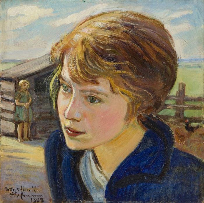 Wlastimil Hofman - Główka dziewczynki, 1927 r.