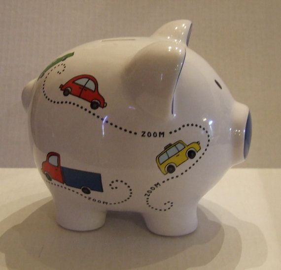 Piggy Bank Large Piggy Bank Ceramic Piggy Bank Boys