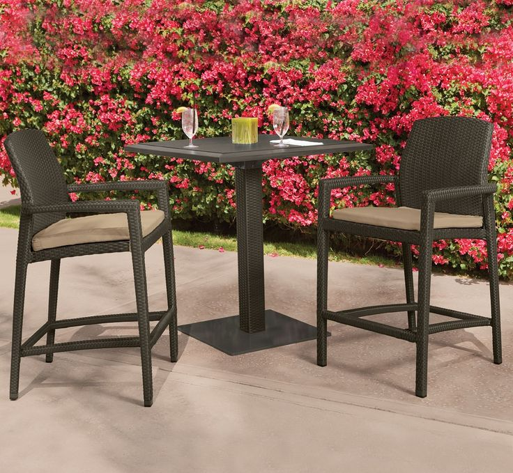 outdoor furniture bar table u0026 stool by tropitone