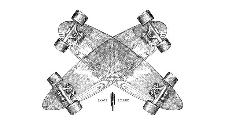 Heritage Paris - Skateboard - Slalom #skate #skateboard #madeinfrance #wood #illustration #sk8 Illustration: La Courtoisie Creative