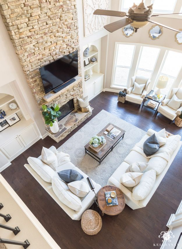 3 Ideas To Conceal Baby Items Toys In The Living Room Kelley Nan In 2020 Large Living Room Layout Farm House Living Room Room Layout