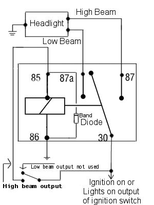 Power Diverting Relay Schematic Diagram Car audio