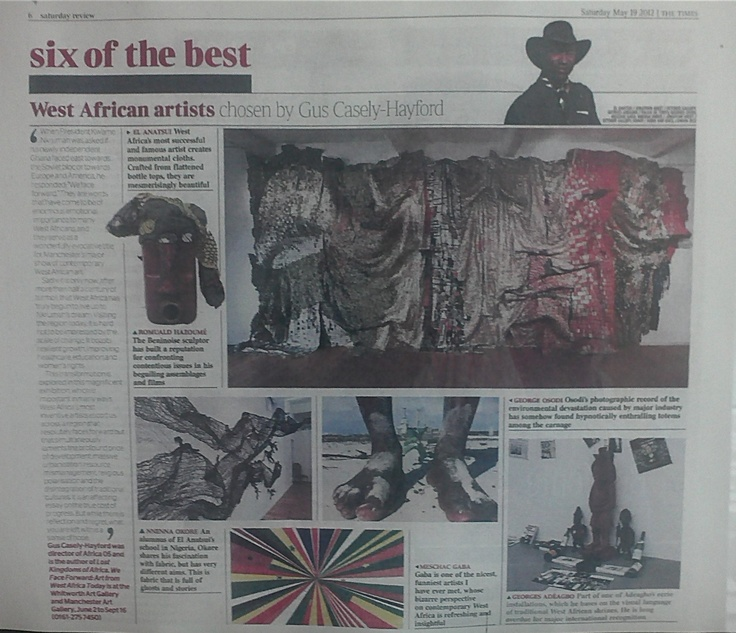 news paper articles and images based on the exhibitions