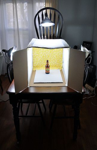 """Good tutorial for a light box.  Pinner says: """" But I will say that I just use a large clear plastic bin for my light box.  The plastic does a great job of defusing the light and you don't have to get all crazy with tissue paper and box cutting.  And when I'm done shooting, I throw lights and all in the bin until I need it next."""""""