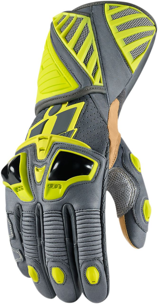 Motorcycle gloves victoria bc - Ministry Of Bikes Icon Hypersport Long Motorcycle Gloves Hi Viz 128 99