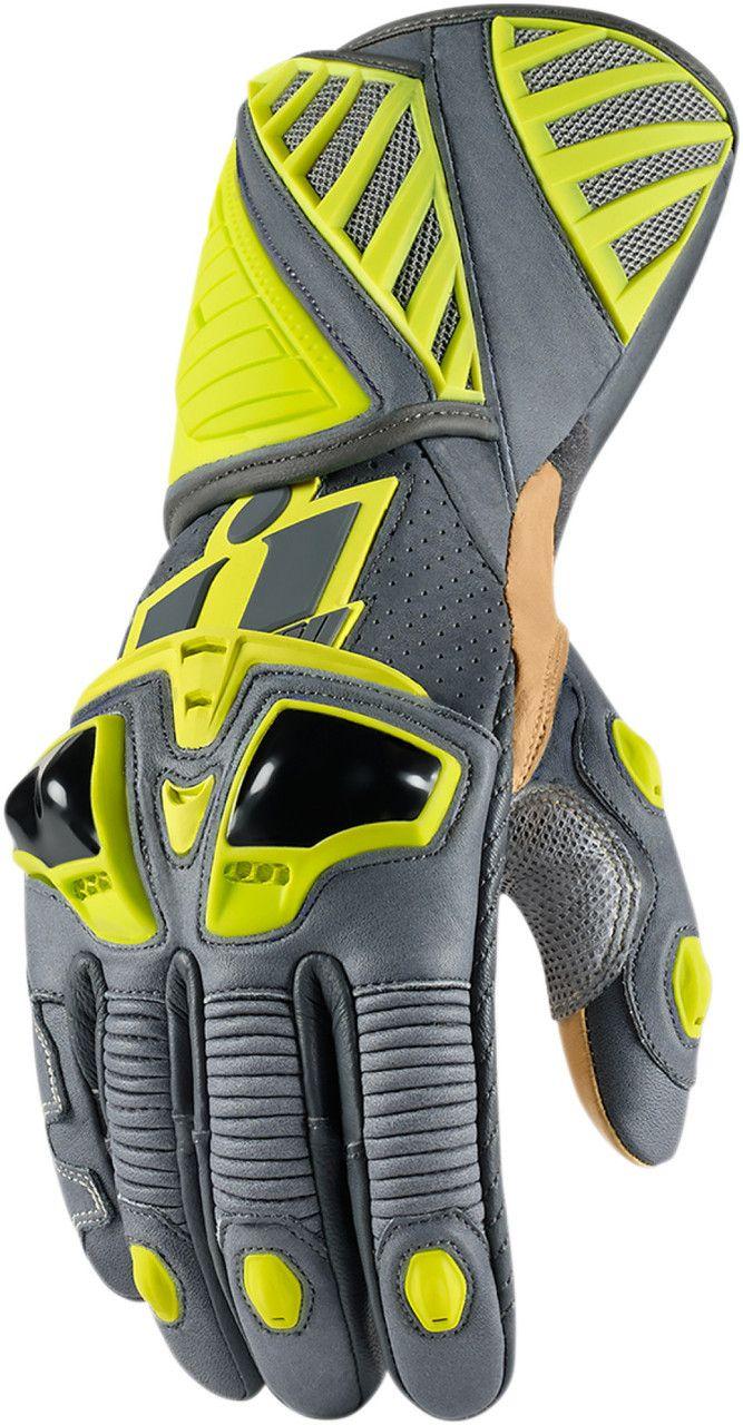 Motorcycle gloves dubai - Ministry Of Bikes Icon Hypersport Long Motorcycle Gloves Hi Viz 128 99