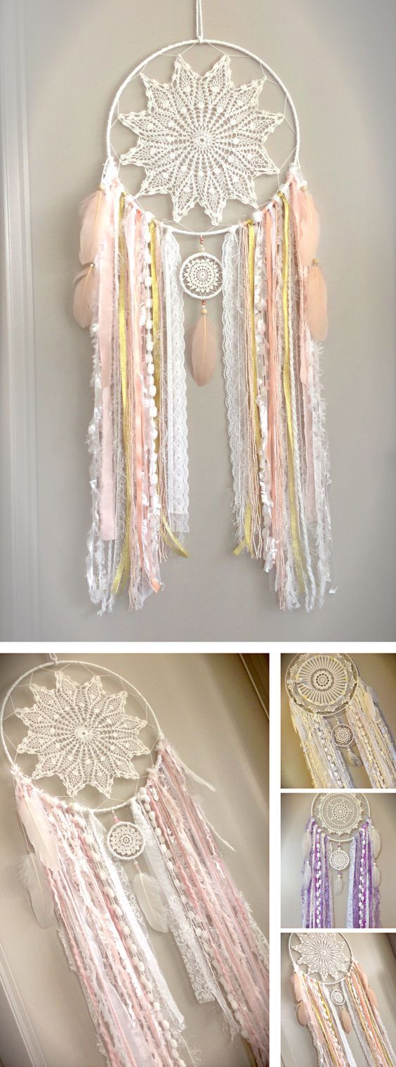 Beautiful Custom Made Shabby Chic Dreamcatcher Baby Nursery Dreamcatcher Shabby Decor Girls Bedroom