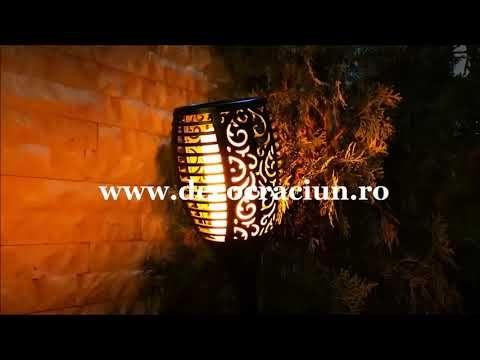 Set Lampi Solare.Faclie Solara Lampi Solare Gradina Torta Solara Efect Flacara Lampa