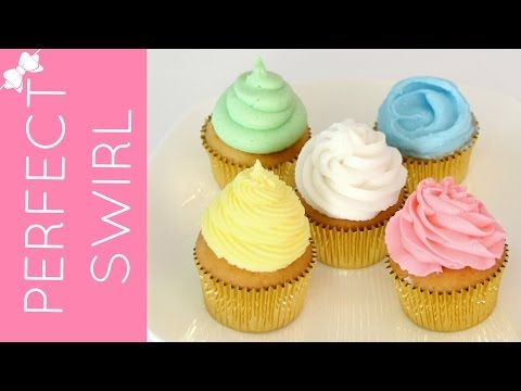 How To Frost A Cupcake Part 1: Perfect Bakery Swirl | Cupcakes 101 Video: Quick, Easy Tips & Tricks - YouTube