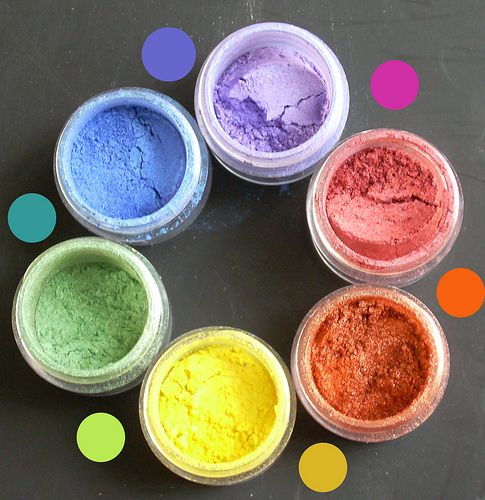 Color theory with mica pigment powders #Polymer #Clay #Tutorials